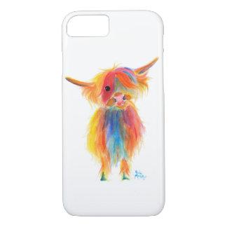 Shirley MacArthur著スコットランドの高地牛「天使」 iPhone 8/7ケース