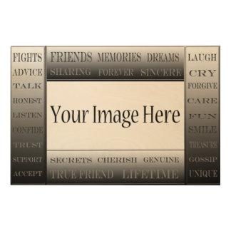 ShirleyTaylor著友情写真フレームの単語 ウッドウォールアート