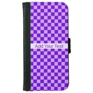ShirleyTaylor著紫色の組合せのチェッカーボード iPhone 6/6s ウォレットケース