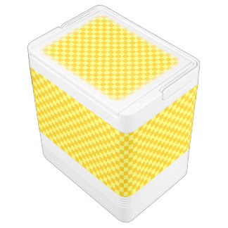 ShirleyTaylor著黄色い組合せのチェッカーボード イグルークーラーボックス