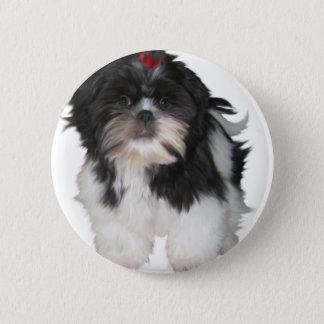 Shitzuのシーズー(犬)のTzuの小犬 5.7cm 丸型バッジ