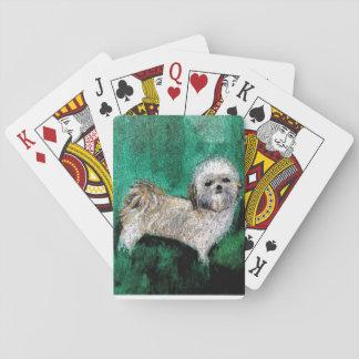 Shitzuの恋人のためのカードを遊ぶこと トランプ