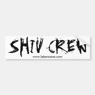 Shivの乗組員のバンパーステッカー バンパーステッカー