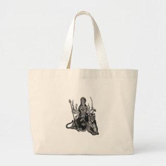 Shivaの女神 ラージトートバッグ