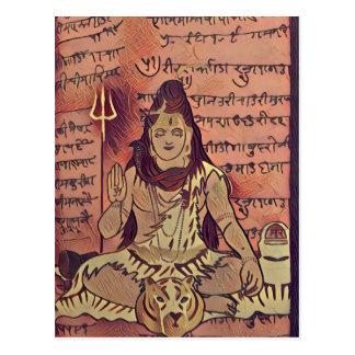 Shivaの着席の暗闇 ポストカード