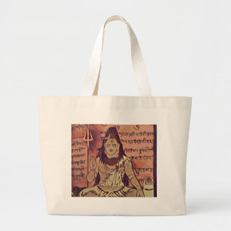 Shivaの着席の暗闇 ラージトートバッグ