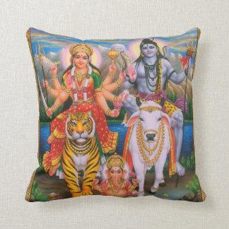 Shiva Parvati Ganeshaの枕 クッション