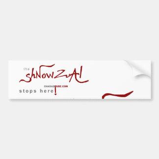 Shnowzalの空白のなバンパーステッカー バンパーステッカー