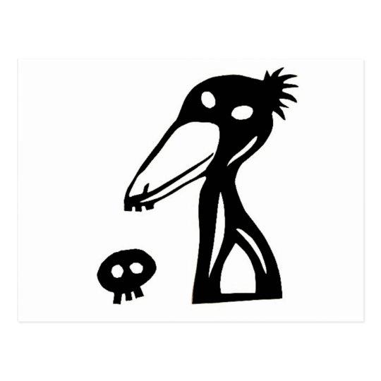 shoebill, balaeniceps rex, shoebird ハシビロコウ 切り絵 ポストカード