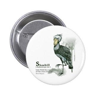 shoebill - ink 5.7cm 丸型バッジ