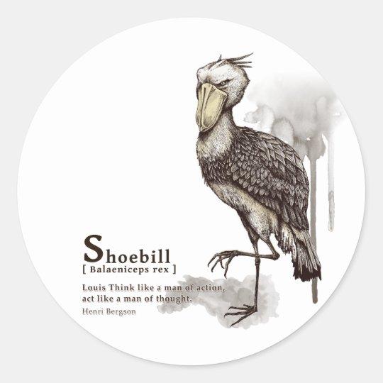 shoebill - mocha ラウンドシール