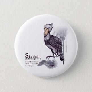 shoebill - plum 5.7cm 丸型バッジ