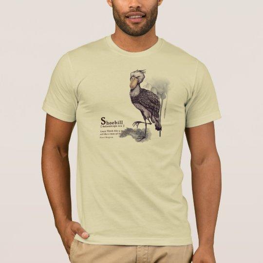 shoebill - plum tシャツ