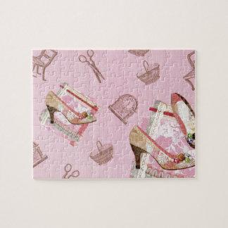 Shoes_Pinkの旧式なパズル ジグソーパズル