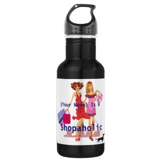 Shopaholicの名前入りなタンブラー ウォーターボトル