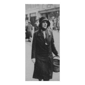 Shopping Vintage女性白黒のイメージの棚カード ラックカード