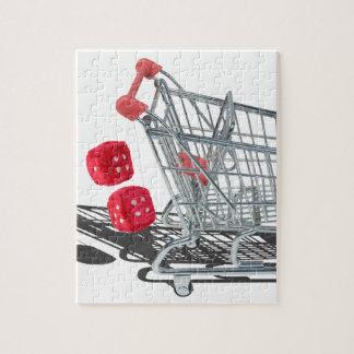 ShoppingCartWithFuzzyDice092715 ジグソーパズル