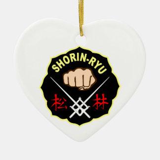 SHORIN RYUの空手パッチの記号の漢字 セラミックオーナメント