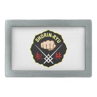 SHORIN RYUの空手パッチの記号の漢字 長方形ベルトバックル