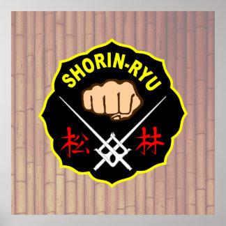 Shorin-Ryu沖縄の空手ポスター ポスター