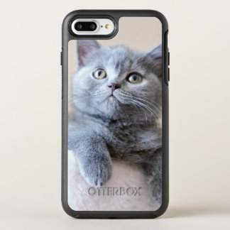Shorthair灰色のイギリスの猫 オッターボックスシンメトリーiPhone 8 Plus/7 Plusケース