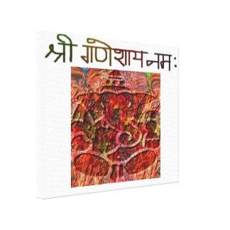 Shree Ganeshay Namaはキャンバスのプリントを伸ばしました キャンバスプリント