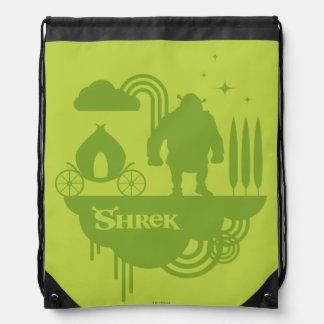 Shrekのおとぎ話のシルエット ナップサック