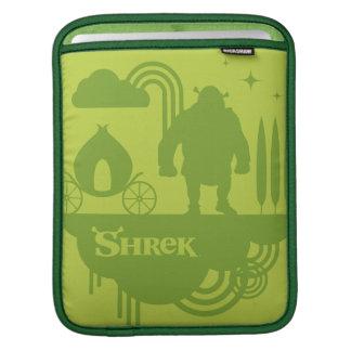 Shrekのおとぎ話のシルエット iPadスリーブ