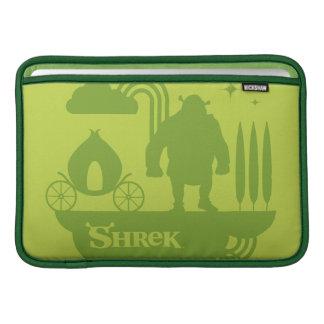 Shrekのおとぎ話のシルエット MacBook スリーブ