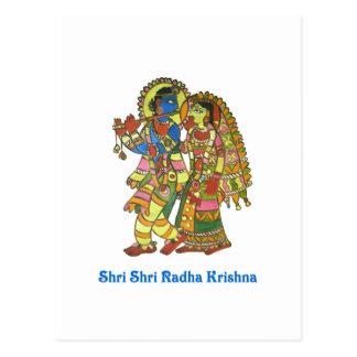 Shri Shri Radha Krishna ポストカード