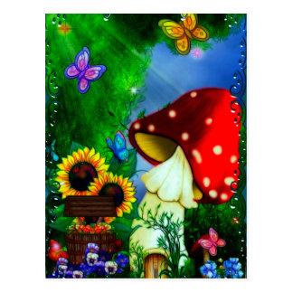 Shroomの溝のお洒落なファンタジーの芸術 ポストカード