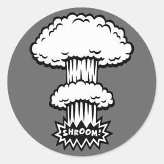 SHROOM! - b/w ラウンドシール