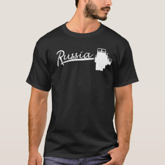 """""""Shtanga""""の-ロシアのなバーベル Tシャツ"""