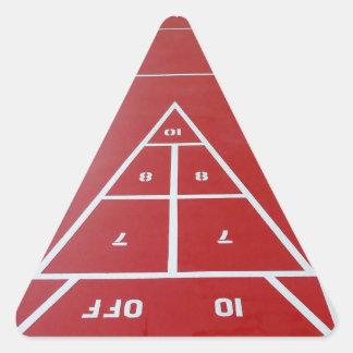 Shuffleboard船上に 三角形シール