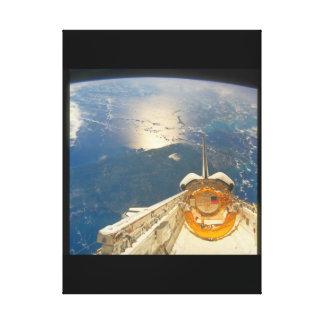 Shuttle_Spaceからの地球の眺め キャンバスプリント