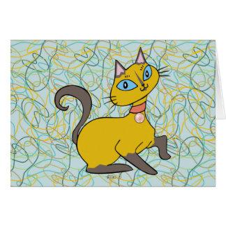 """Siames猫""""Pistache """" カード"""