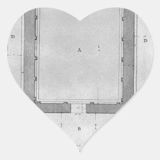 Sibylの寺院の計画および高度の後部 ハートシール