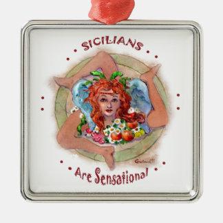 Siciliansは扇情的です メタルオーナメント
