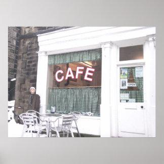 SidのCaféのキャンバスのプリント ポスター