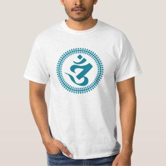 Siddham Omの人の白いTシャツ Tシャツ