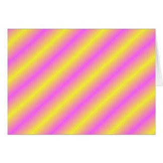 Sideway黄色く、ピンクのネオンライン カード