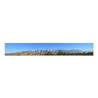 Sierra delカルメン、コアウイラ州、メキシコ フォトプリント