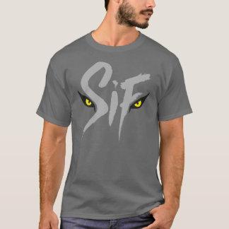 Sifの素晴らしいオオカミのタイポグラフィ Tシャツ