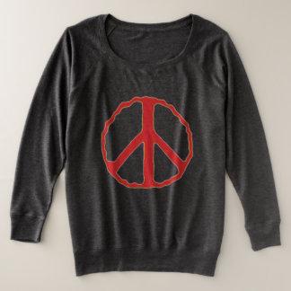 Sign of Peace プラスサイズスウェットシャツ