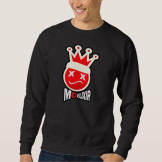 Signature Logoプロム王-赤及びクリーム スウェットシャツ