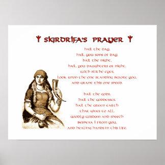 Sigrdrifaの祈りの言葉ポスター ポスター