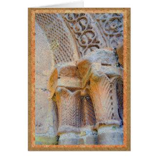 Sigüenza、スペインのカテドラルの石造りの柱 カード