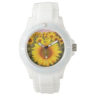 Silicon Fashion Sunflower Watch 腕時計
