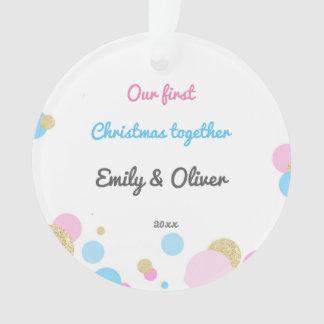 Silings Girl Boy First Christmas Ornament Confetti オーナメント