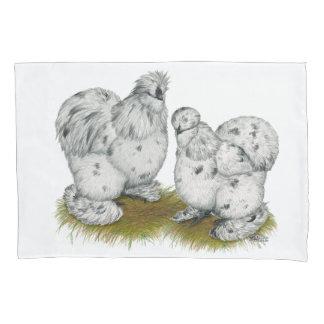 Silkieの小型のしぶきの鶏 枕カバー